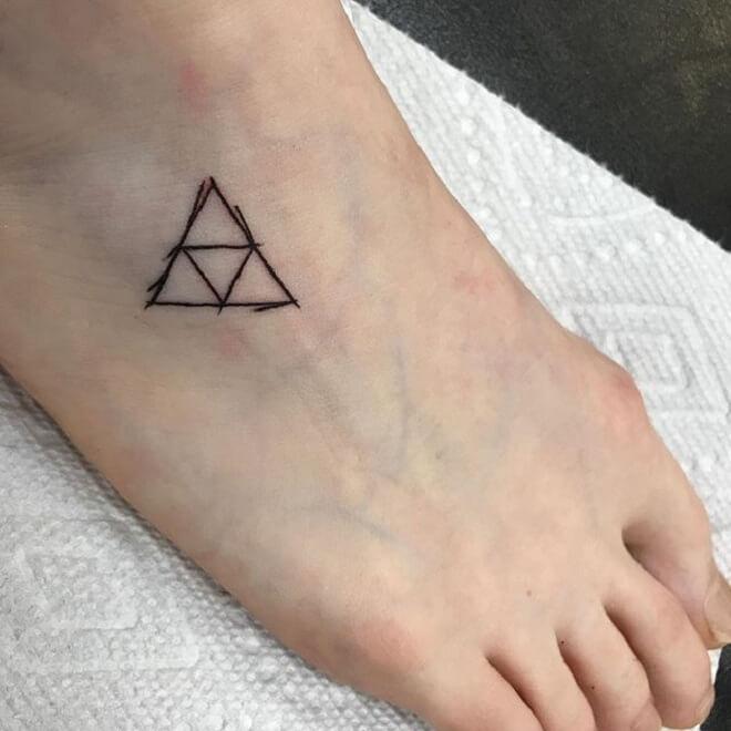 Foot Triforce Tattoo