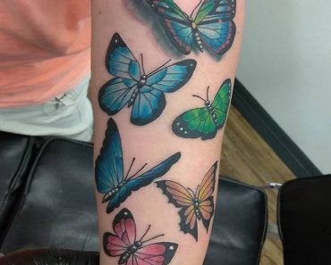 Forearm Butterfly Tattoo