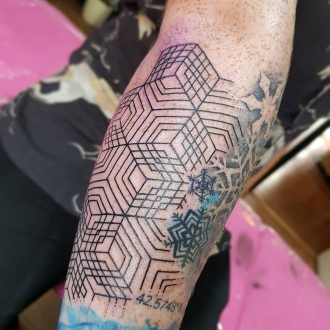 Forearm Geometric Tattoo