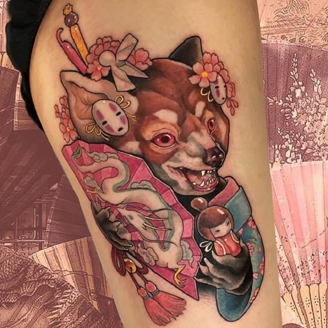 Fun Neo Traditional Tattoo