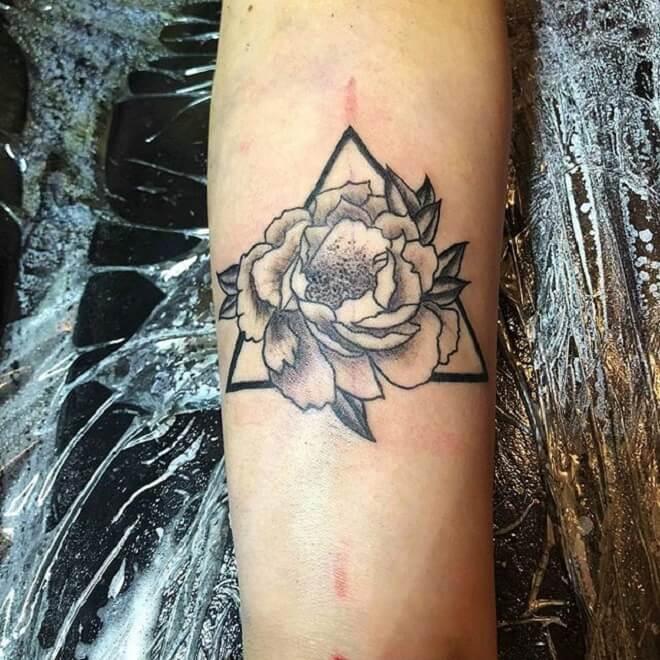 Geometric Flower Tattoo Ideas