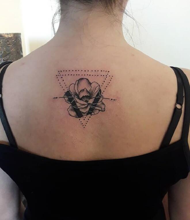 Geometric Flower Tattoo for Women