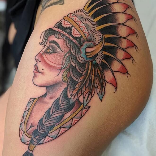Girl Butt Tattoo