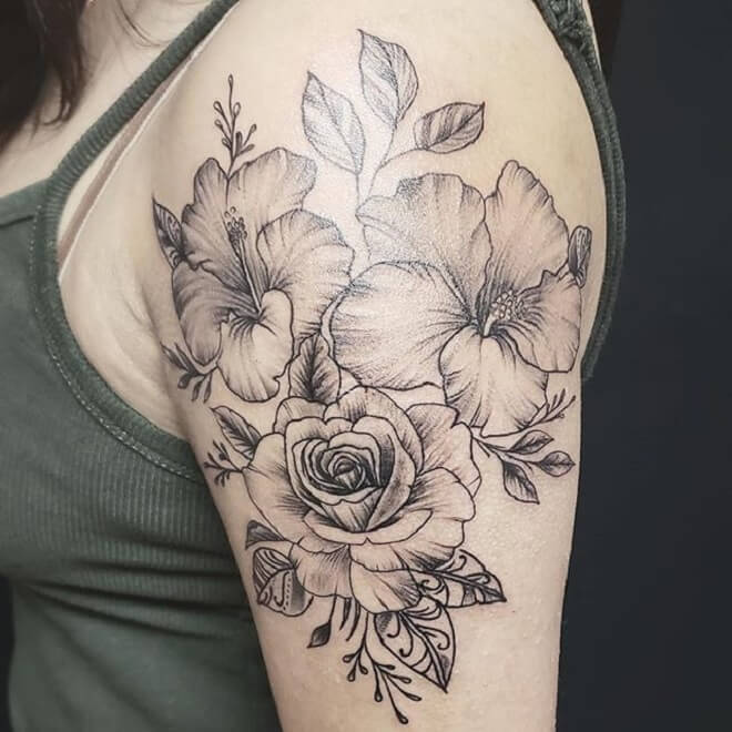 Girl Hibiscus Tattoo