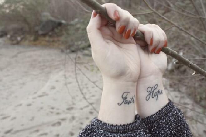 Girl Hope Tattoo