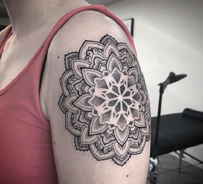 Girl Sacred Geometry Tattoo
