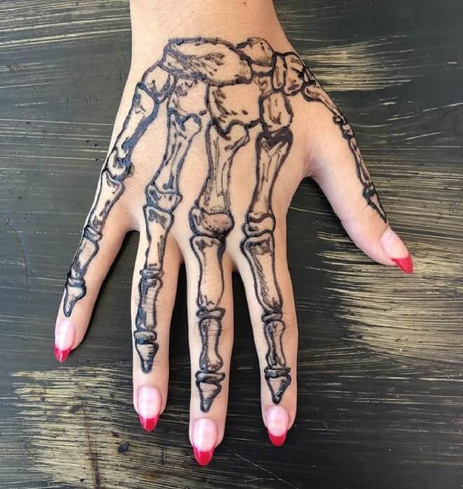 Top 30 Skeleton Hand Tattoos Incredible Skeleton Hand
