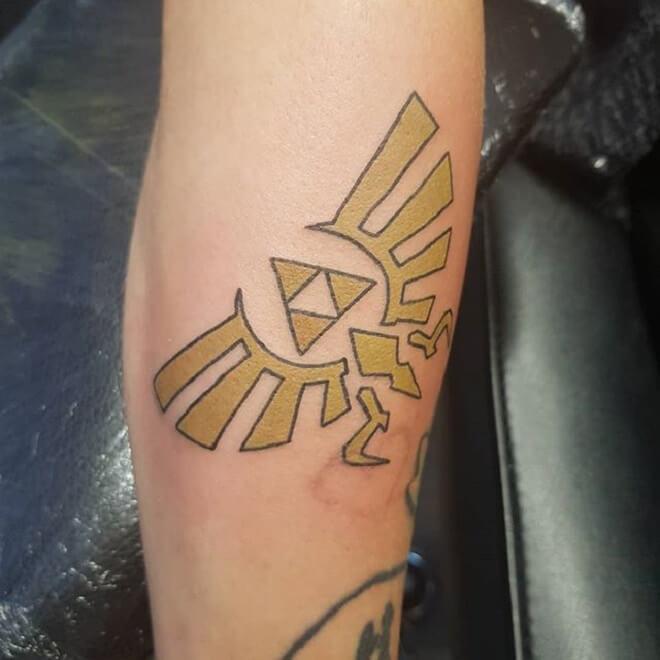 Golden Triforce Tattoo