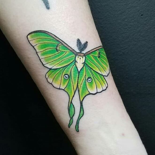 Green Color Tattoo