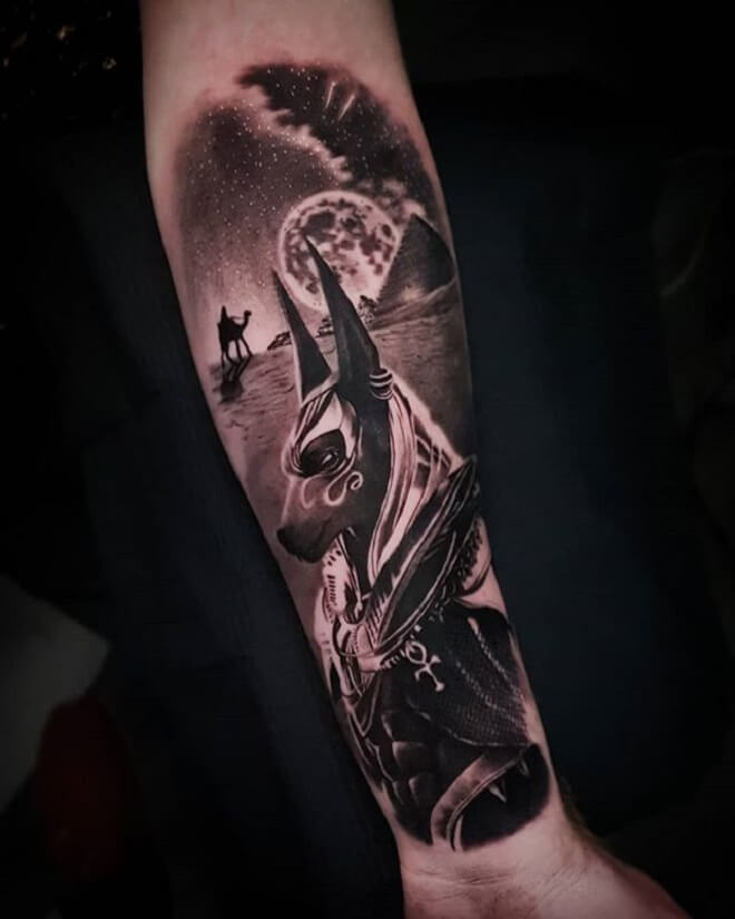 Grey Color Tattoo