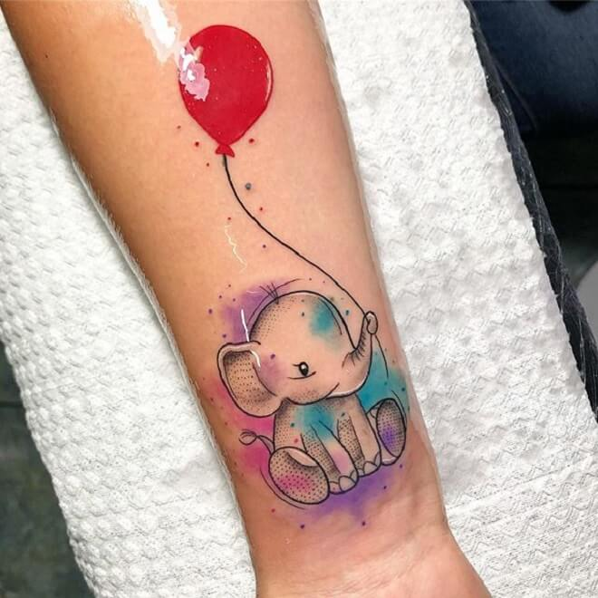 Hand Baby Elephant Tattoo