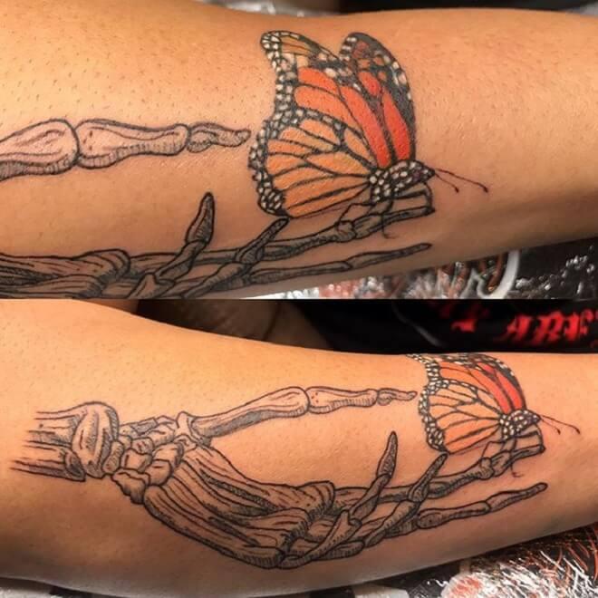 Hand Butterfly Tattoo