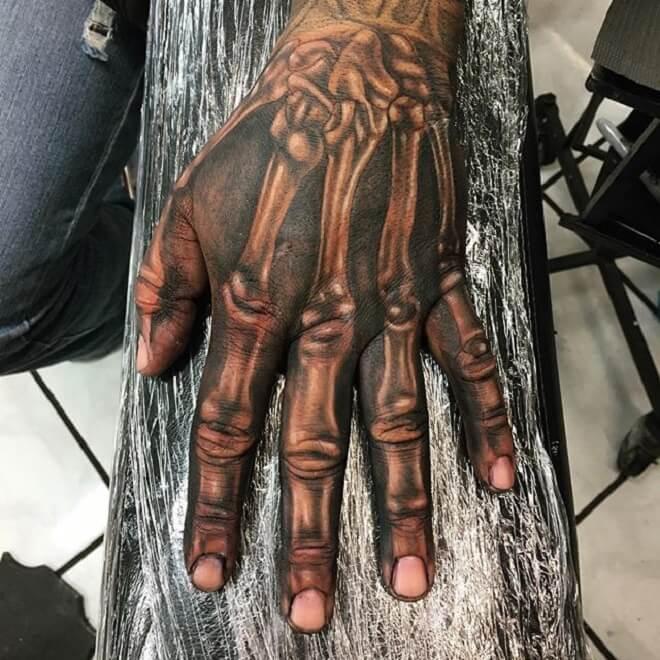 Hand Grey Tattoo