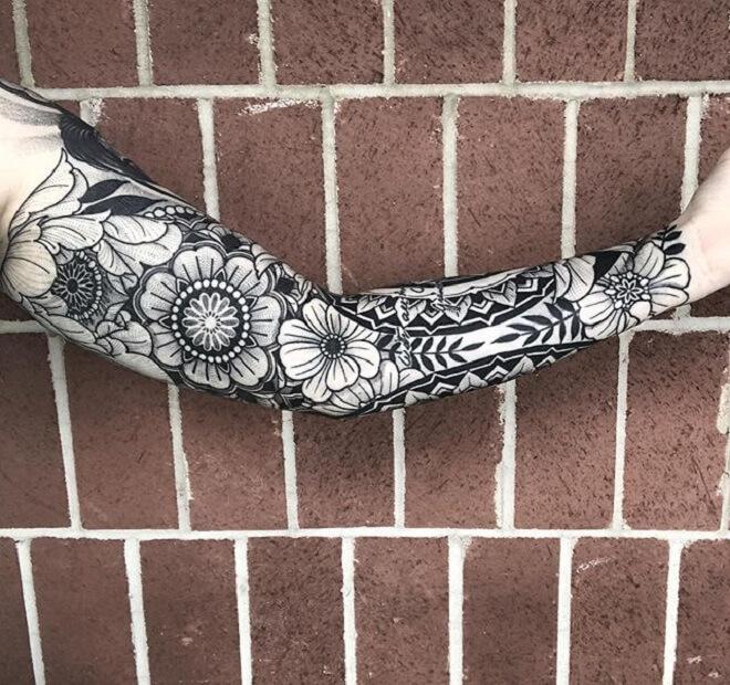 Hand Sacred Geometry Tattoo