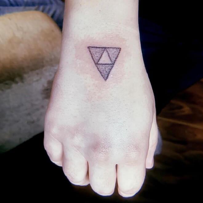 Hand Triforce Tattoo
