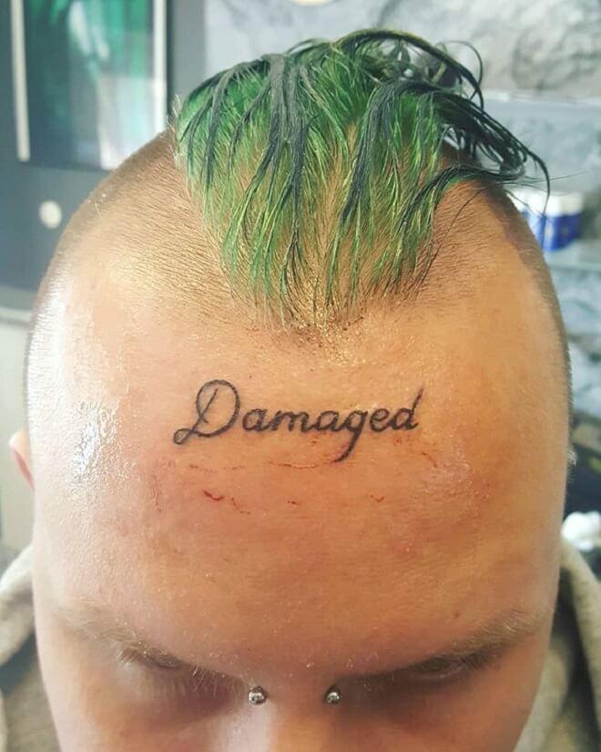 Head Text Tattoo