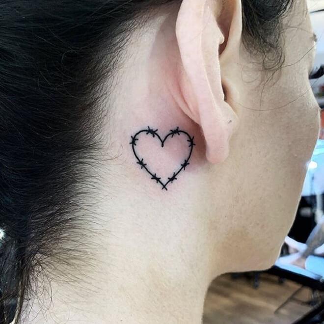 Heart Black Tattoo