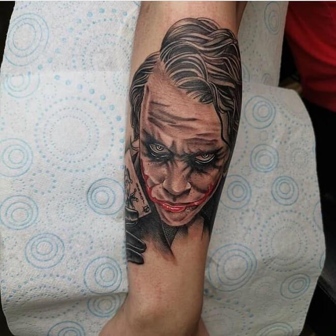 Heath ledger Tattoo