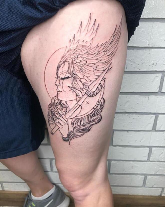 Hip Valkyrie Tattoo