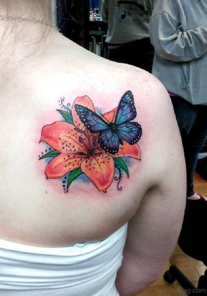 Incredible Flower Shoulder Tattoo