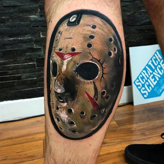 Jason Mask Men Tattoo