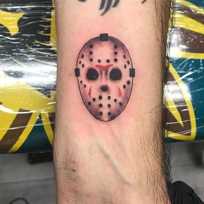 Jason Mask Mini Tattoo