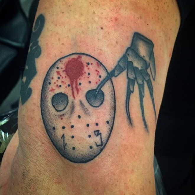 Jason Mask Tattoo Art