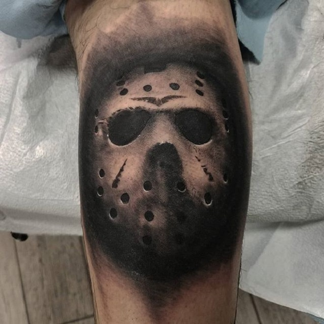 Jason Mask Tattoo
