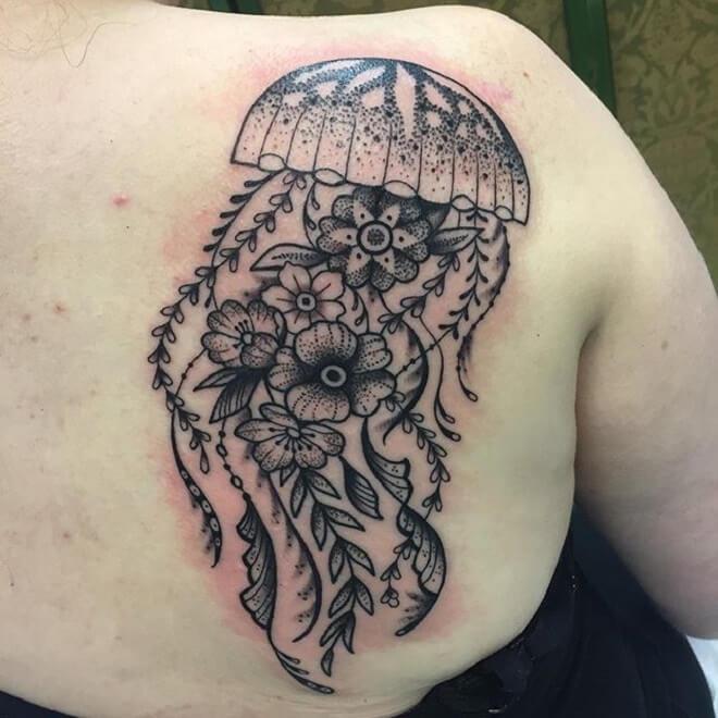 Jellyfish back Tattoo