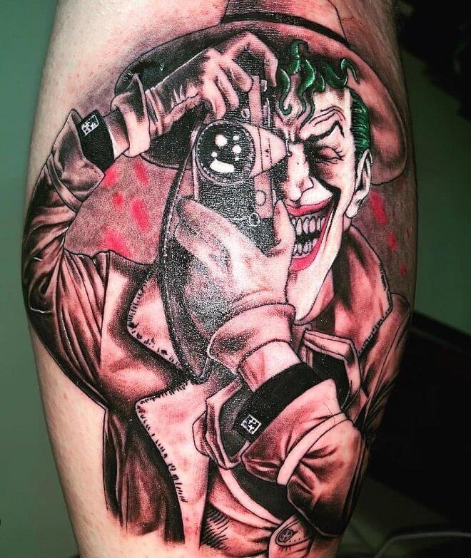 Joker Thigh Tattoo