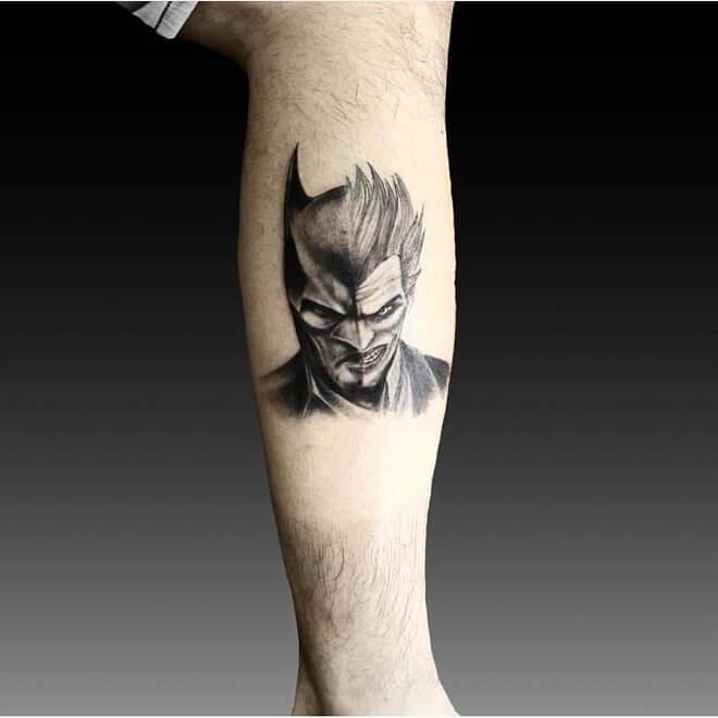Joker with Batman Tattoo
