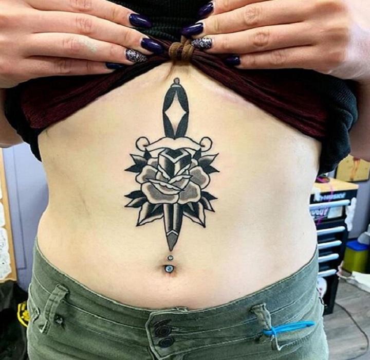 Lady Dagger Tattoo