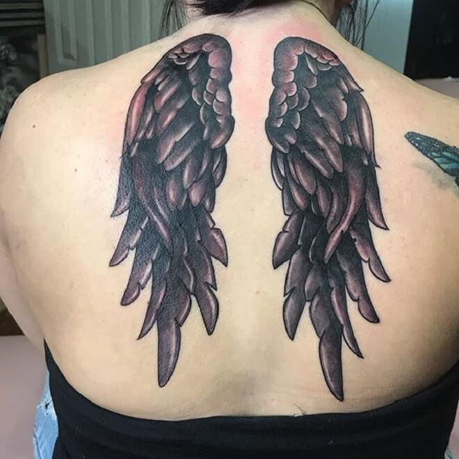 Lady Wing Tattoo