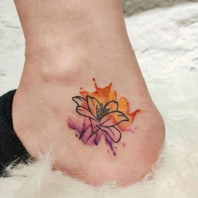 Leg Lily Tattoo