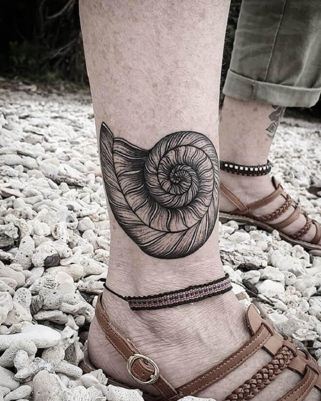 Leg Sacred Geometry Tattoo