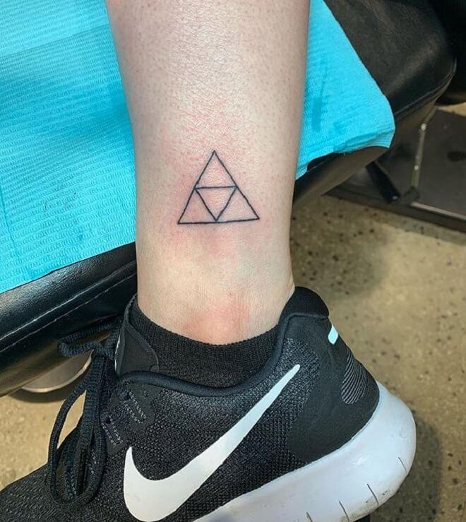 Leg Triforce Tattoo