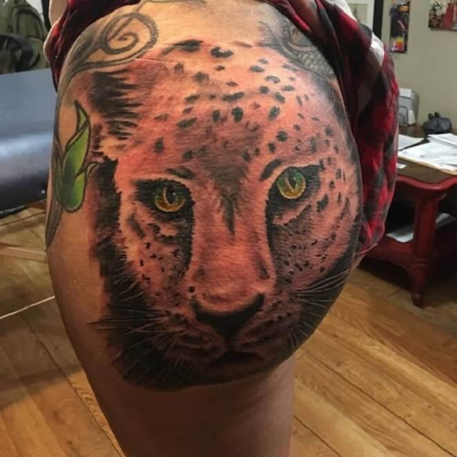 Leopard Butt Tattoo