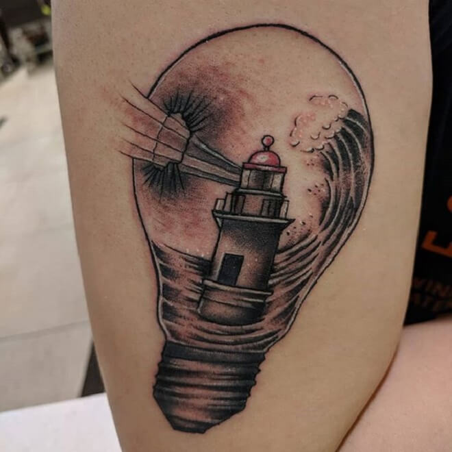 Light Bulb Tattoo