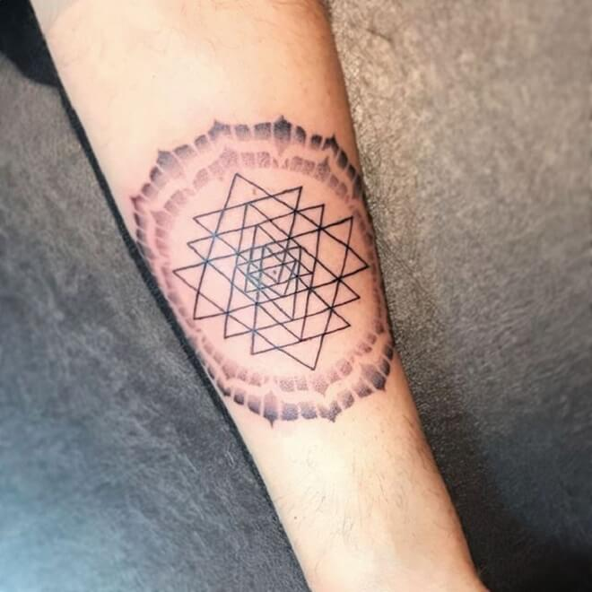 Line Sacred Geometry Tattoo