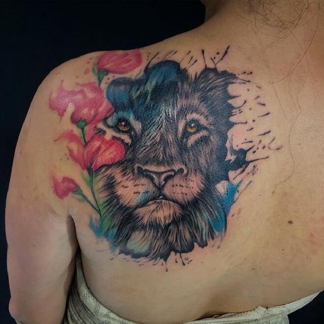 Lion Tattoo for Women