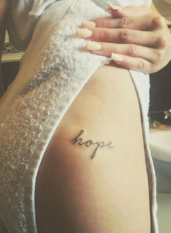Little Hope Word Tattoo