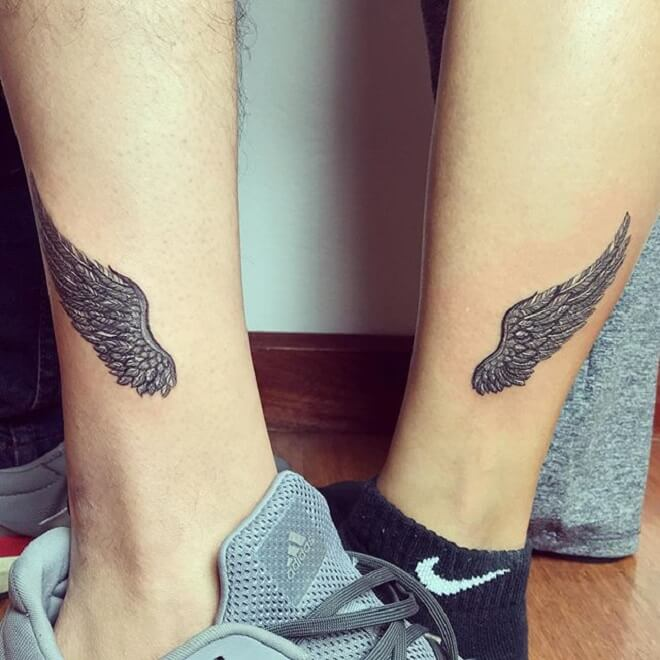 Matching Wing Tattoos