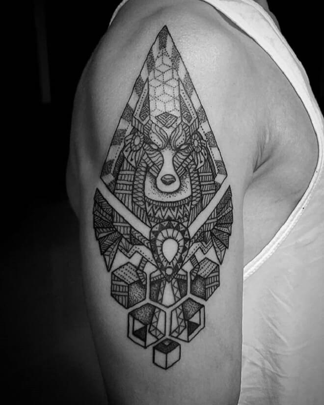Men Anubis Tattoo