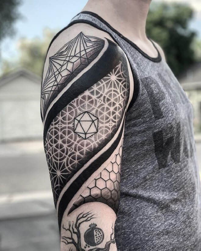 Men Sacred Geometry Tattoo