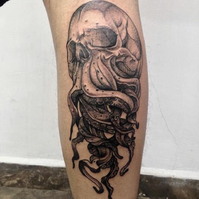 Mexico Kraken Tattoo