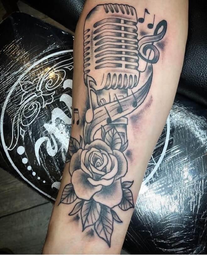 Microphone Tattoo