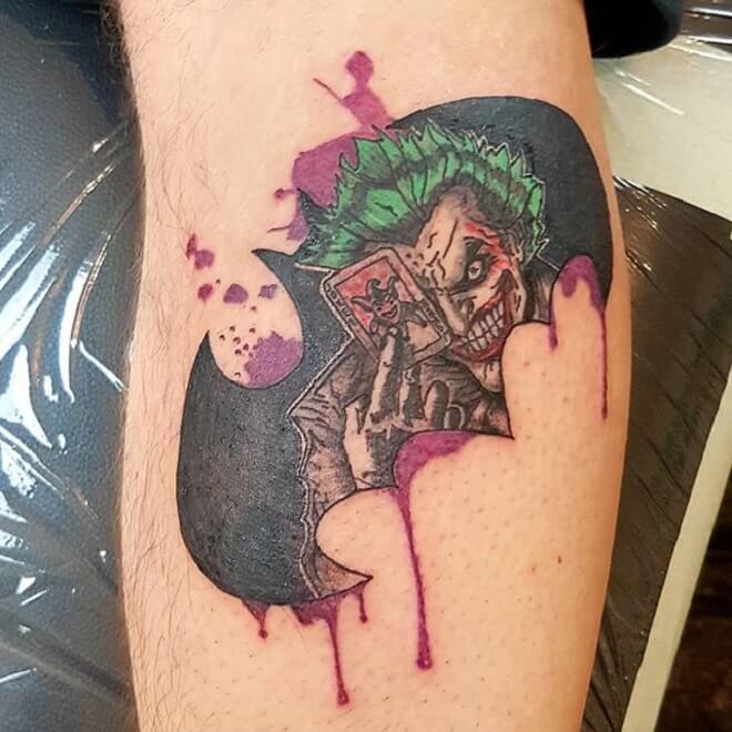Modern Joker tattoo