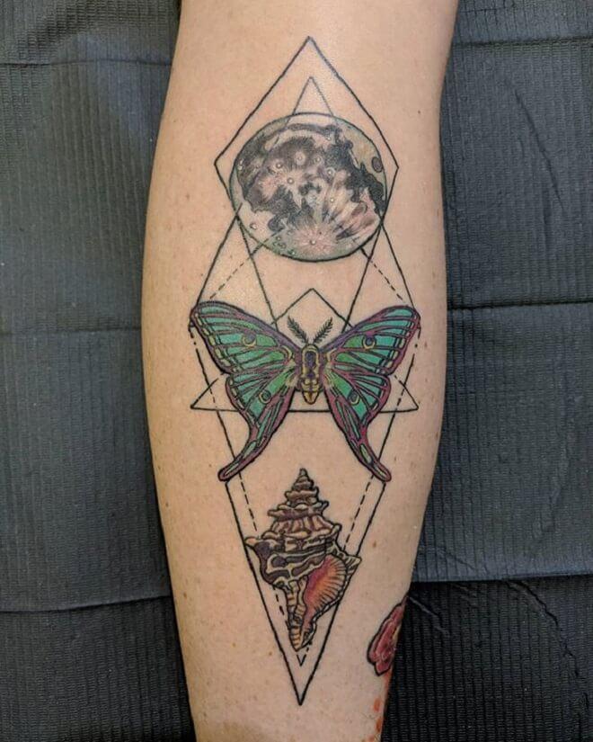 Moon Moth Tattoo