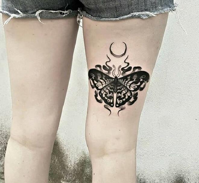 Moth Tattoo Style