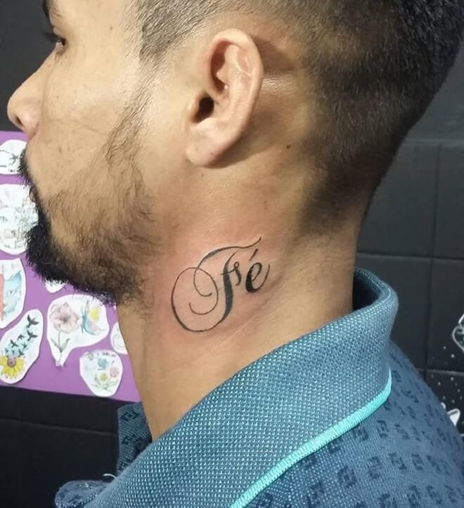 Neck Faith Tattoo